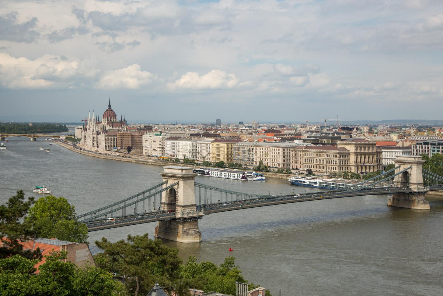 Boedapest gezien vanaf de Gellert heuvel