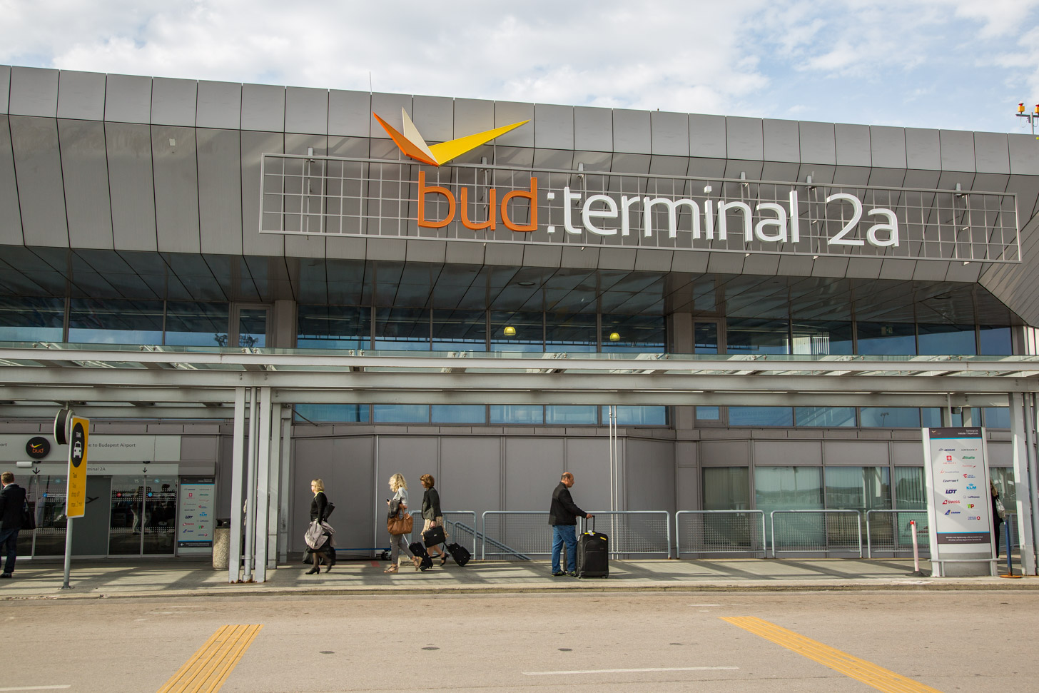 Terminal 2 van het vliegveld van Boedapest