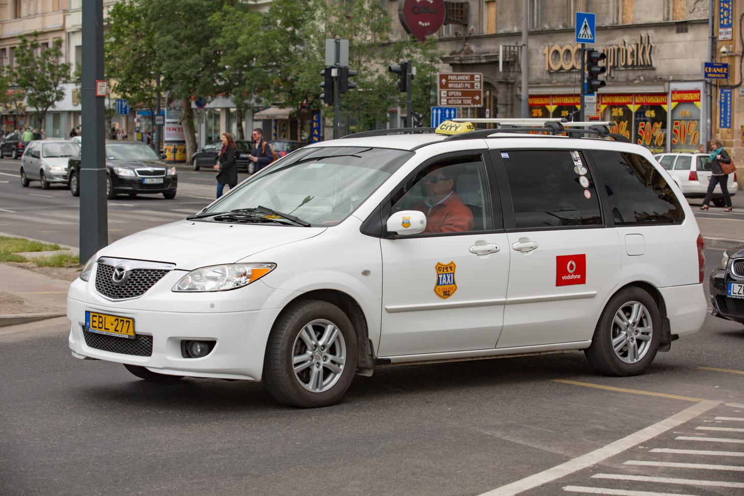 Een taxi in Boedapest