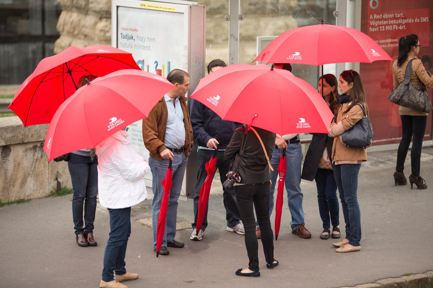 De paraplu is geregeld nodig